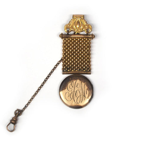 Gold Plated Chatelaine Locket