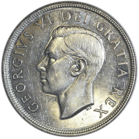 1950 Canadian Silver Dollar - Uncirculated