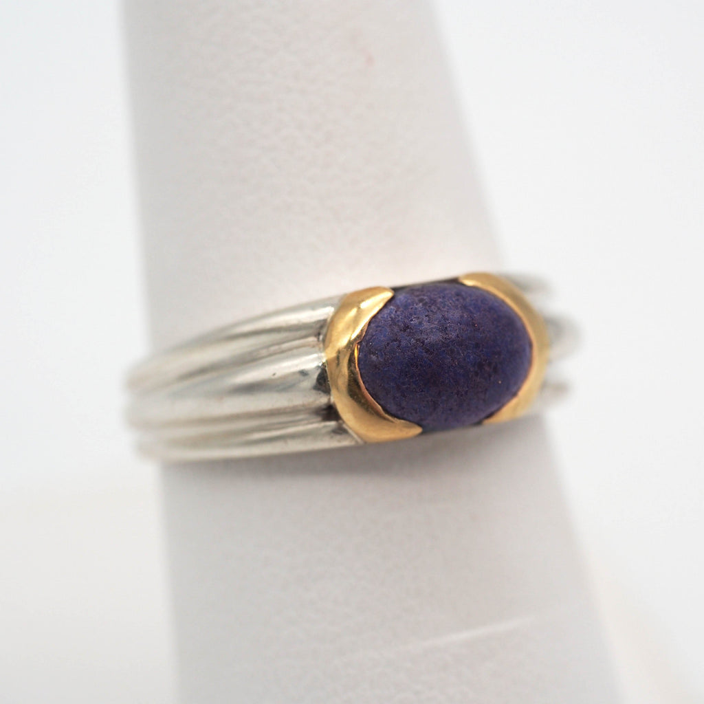 59ce8fd02 Tiffany & Co. Sterling Silver/18K Gold Lapis Lazuli Cabochon Ring