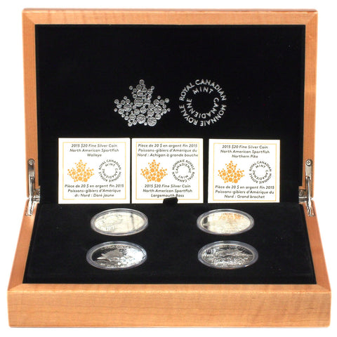 2015 RCM $20 Silver North American Sportfish 4 Coin Set - PQBU in OGP