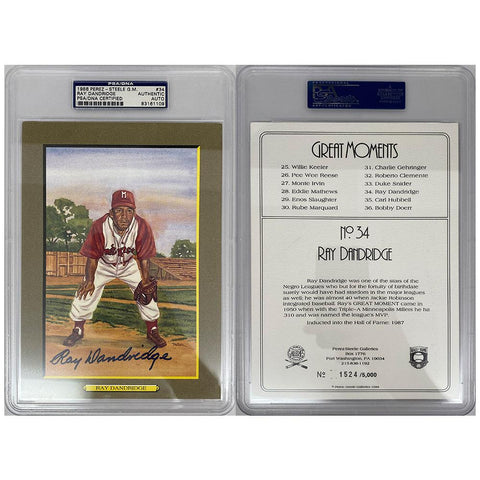 Ray Dandridge Signed Great Moments Perez-Steele Card - PSA/DNA