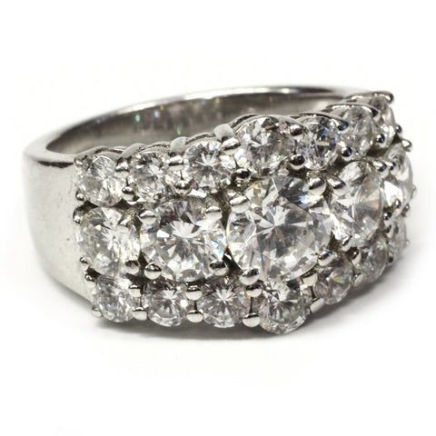 Jean Dousset JD Sterling CZ Ring - Size 7
