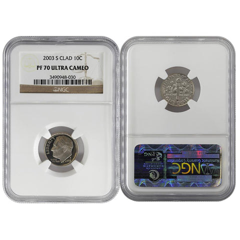 1986-S 10C CLAD NGC Roosevelt Dime PROOF-69 ULTRA CAMEO