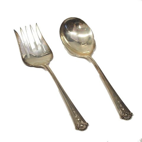 Kirk-Stieff Severn-Worthington Sterling Silver Salad Serving Set