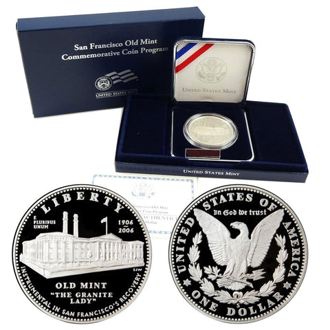 2006-S San. Francisco Old Mint Commemorative Proof Silver Dollar w/OGP & COA