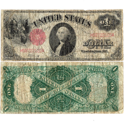 "1917 ""Sawhorse"" $1 Legal Tender Note - Fr. 37 - Very Good"