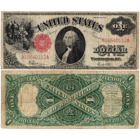 1917 Sawhorse $1 Legal Tender Note - Fr. 39 - Fine