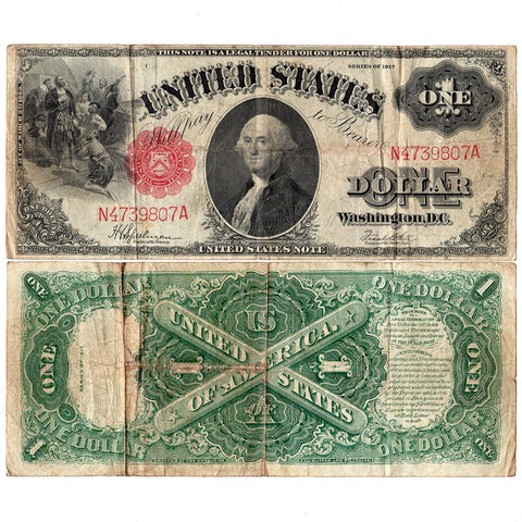 "1917 ""Sawhorse"" $1 Legal Tender Note - Fr. 39 - Ch. Fine"