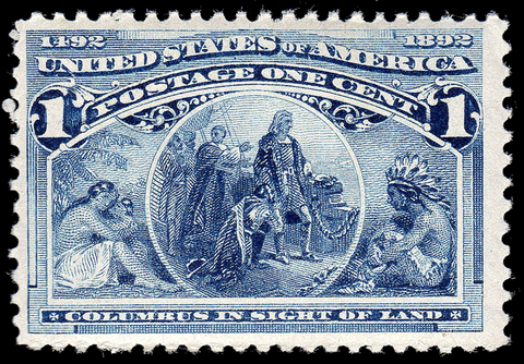 Scott #230 1893 Columbian Exposition 1¢ Blue - OG N.H. F/VF