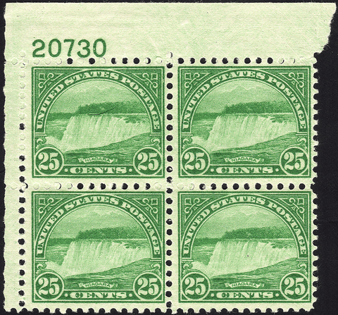 Scott #568 25¢ Niagara Falls Block of Four - Mint OG N.H. VF