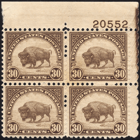 Scott #569 15¢ American Buffalo Block of Four - Mint OG N.H. VF