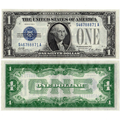 1928-A $1 Silver Certificate Fr.1601 - Choice. Extremely Fine