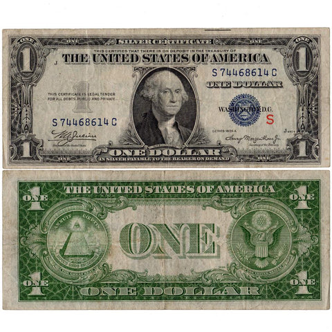 "1935-A Experimental ""S"" $1 Silver Certificate Fr. 1610 - Very Fine"