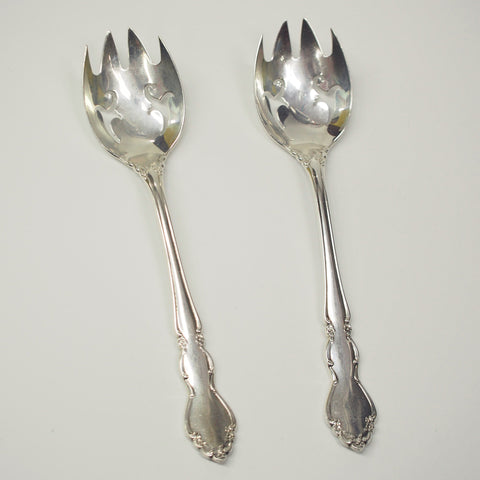 Pair of Dover By Oneida Sterling Silver Ice Cream Forks