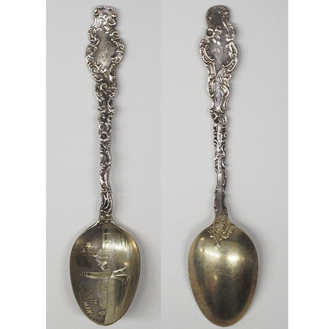 Durgin New London Sterling Silver Souvenir Spoon