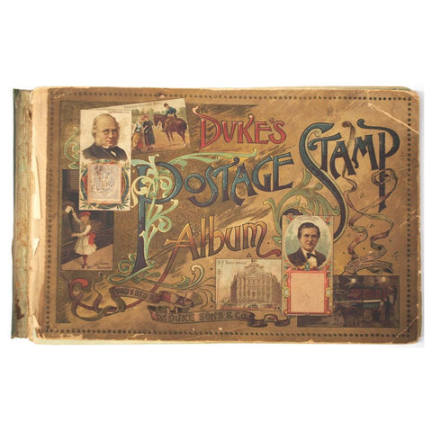 Rare Duke's Postage Stamp Album (1880-1910)