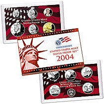 2004-S Statehood 11 Coin Silver Proof Set, In Original Mint Box with COA