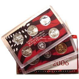 2006-S Statehood 10 Coin Silver Proof Set, In Original Mint Box with COA