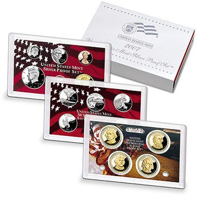2007-S Statehood 14 Coin Silver Proof Set, In Original Mint Box with COA