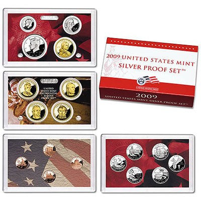 2009-S U.S Territories 18 Coin Silver Proof Set, In Original Mint Box with COA