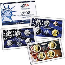 2008-S Statehood 14 Coin Clad Proof Set, In Original Mint Box with COA