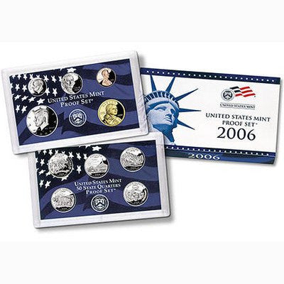 2006-S Statehood 10 Coin Clad Proof Set, In Original Mint Box with COA