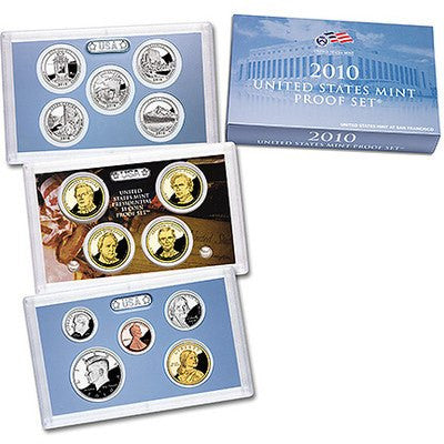 2010-S American The Beautiful 14 Coin Clad Proof Set, In Original Mint Box with COA