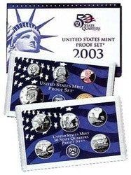 2003-S Statehood 10 Coin Clad Proof Set, In Original Mint Box with COA