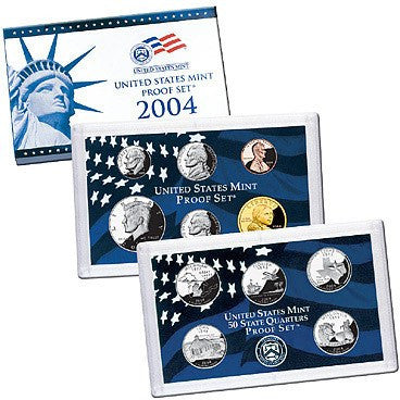 2004-S Statehood 11 Coin Clad Proof Set, In Original Mint Box with COA