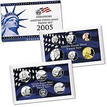 2005-S Statehood 11 Coin Clad Proof Set, In Original Mint Box with COA