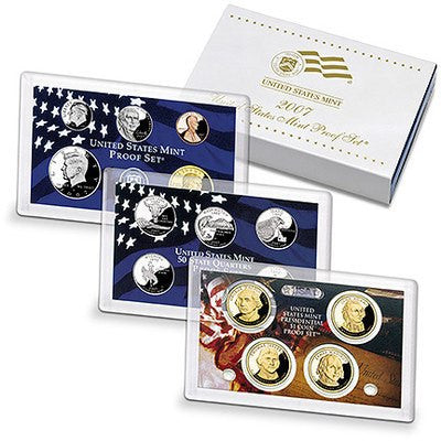 2007-S Statehood 14 Coin Clad Proof Set, In Original Mint Box with COA