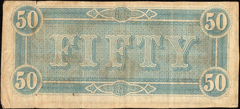T-66 Feb. 17 1864 $50 Confederate States of America (C.S.A.) PF-3/Cr.497 - Very Fine