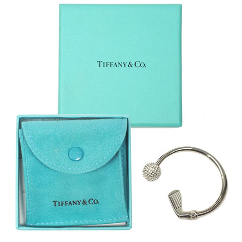 Tiffany & Co. Sterling Silver Golf Club & Ball Key Chain w/ Pouch & Box