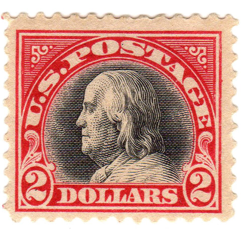 1920 United States Two Dollar Scott #547 Stamp - V.F. O.G. L.H.