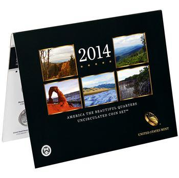 2014 America the Beautiful Quarter Uncirculated Coin Set