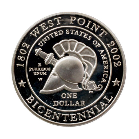 2002-W United States Military Academy Bicentennial Silver Proof Dollar - Gem Proof in OGP w/ COA