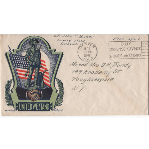 "Jul. 9, 1942 ""United We Stand"" WW2 Patriotic Cover"