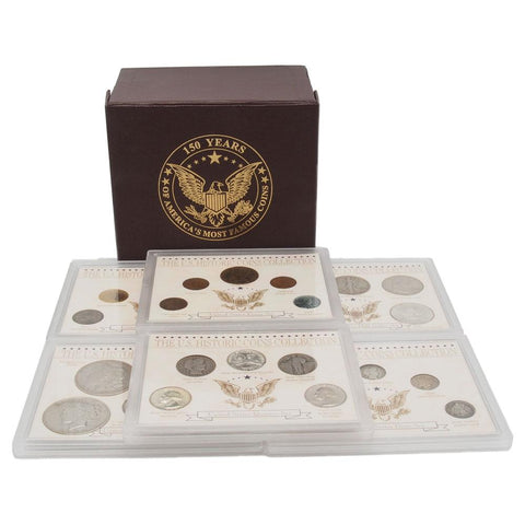 150 Years of America's Most Famous Coins Set