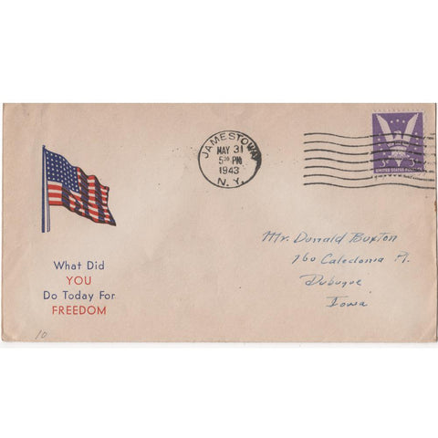 "May 31, 1943 ""What Did You Do Today For Freedom"" WW2 Patriotic Cover"