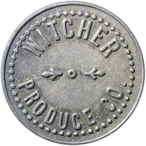 "Witcher Produce Co. Brownwood, TX ""Good for Five Turkeys"" Token"