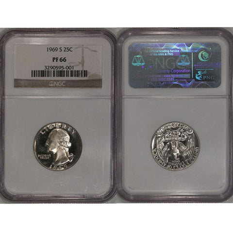 1969-S Washington Quarter NGC PF66