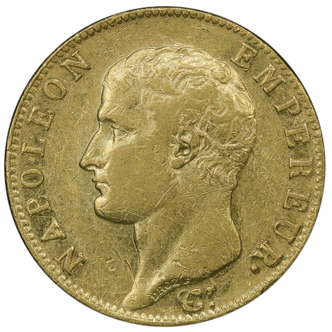 AN13 (1805) French Napoleon 20 Franc Gold Coin KM.663.1- F/VF