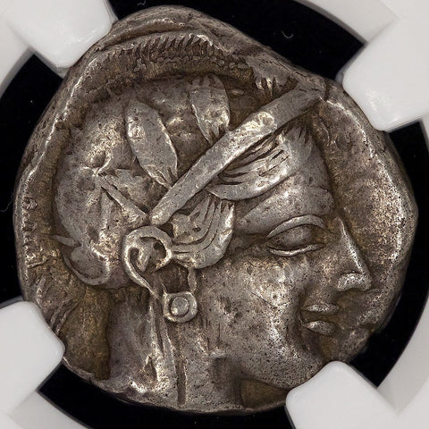 Ancient Greece - Attica, Athens AR Tetradrachm 440-408 BC, NGC VF 5/4