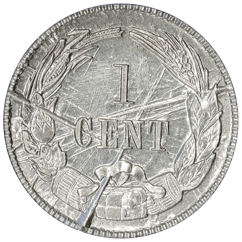1861 (1961) Confederate Cent, Bashlow Restrike, Aluminum, Breen-8016 - Choice Uncirculated