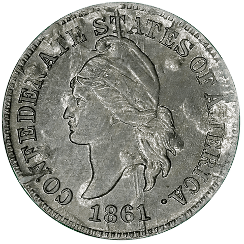 1861 (1961) Confederate Cent, Bashlow Restrike, Lead, Breen-8015 - Choice Uncirculated