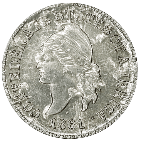 1861 (1961) Confederate Cent, Bashlow Restrike, Nickel-Silver, Breen-8012 - Choice Uncirculated