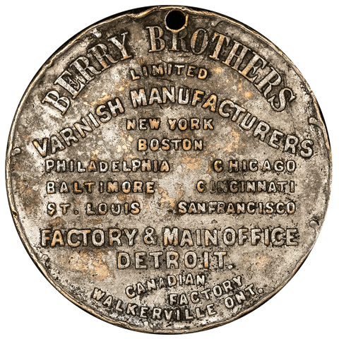 1890-1902 Berry Brothers Detroit Michigan Store Card - Very Fine/Extremely Fine Details