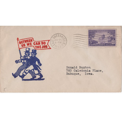 "1943 ""Between Us We Can Do the Job"" WW2 Patriotic Cover"