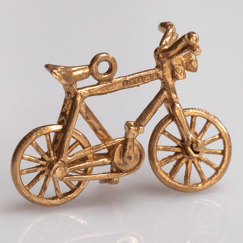 Articulated 9K Gold Bicycle Charm from 1965-66 (U.K.)