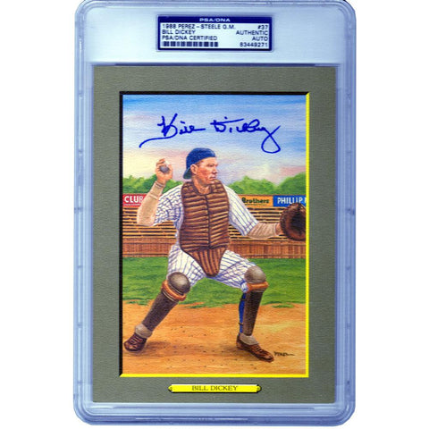 "1988 Bill Dickey Autographed Perez-Steele ""Great Moments"" Print - PSA Certified"